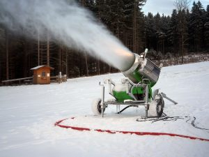 Energy and Water Hungry Snow Cannon